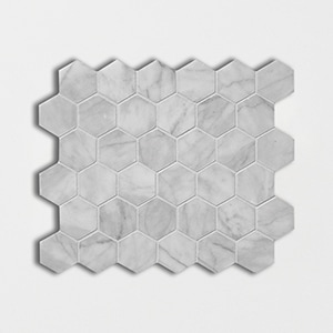 Carrara T Honed 10 3/8x12 Hexagon