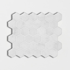 Carrara T Polished 10 3/8x12 Hexagon