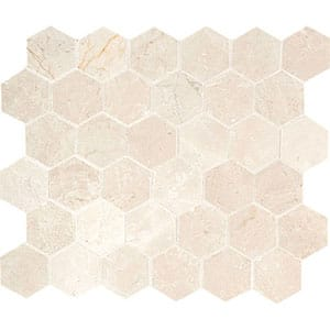 Princeton Polished 10 3/8x12 Hexagon