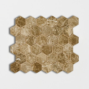 Emperador Light Polished 10 3/8x12 Hexagon