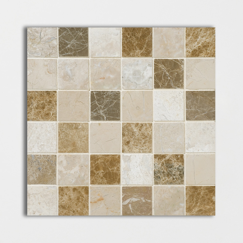 Geneve Polished 12x12 2x2 Multicolor Marble Mosaic