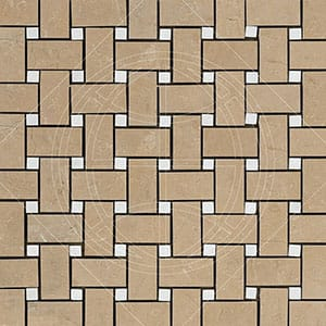 Sable&glacier Honed 12x12 Basket Weave