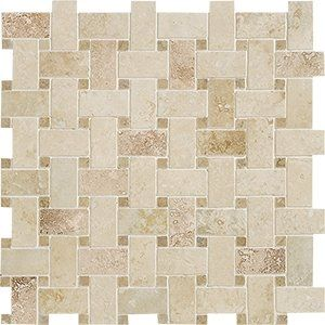 Tuscany Beige&noce Honed&filled 12x12 Basket Weave