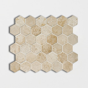 Tuscany Beige Honed&filled 10 3/8x12 Hexagon