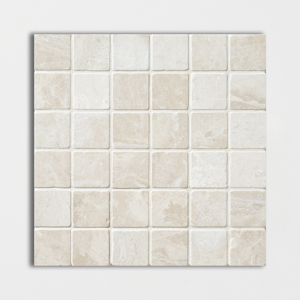 Buy Marble Mosaic Royal Beige Tumbled 12x12 2x2 In Beige