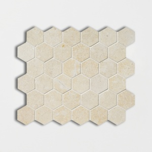 Jerusalem Light Honed 10 3/8x12 Hexagon