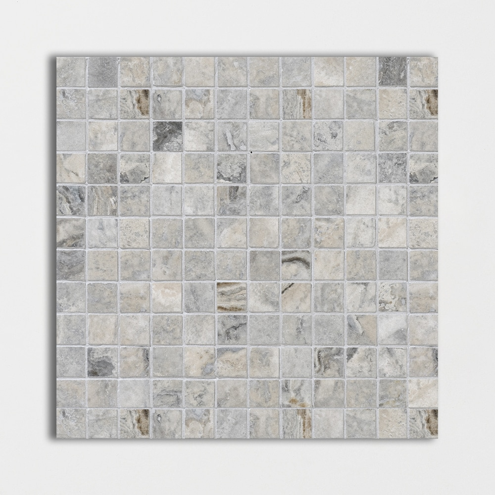 Buy Silver Travertine Honed Amp Filled 12x12 1x1 Grey