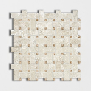 Royal Beige&emperador Light Honed 12x12 Basket Weave