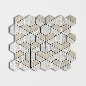 Seagrass Textured 10 3/8x12 3d Hexagon