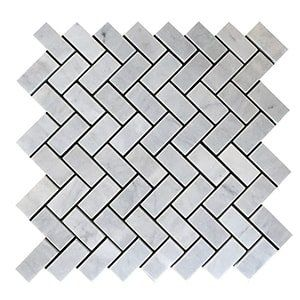 Carrara T Honed 12 1/8x13 3/8 Herringbone