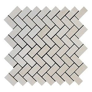 Paris Honed 12 1/8x13 3/8 Herringbone