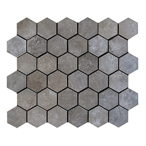 Gray Fousanna Honed 10 3/8x12 Hexagon