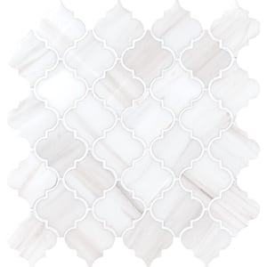 Bianco Dolomiti Honed 12x12 Meshed