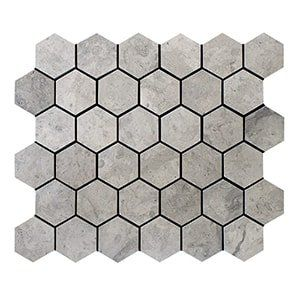 Thala Gray Honed 10 3/8x12 Hexagon