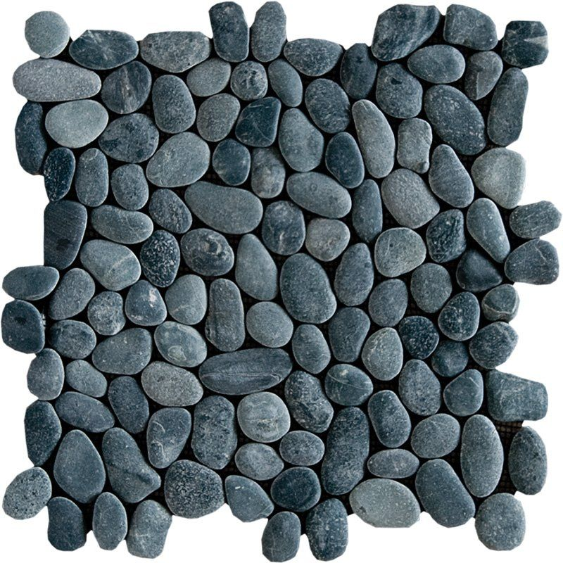 Sumatra Black Polished 12x12 Pebble Stone Pebble Mosaics