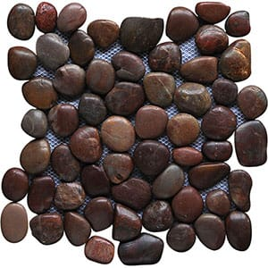 Red Blend Polished 12x12 Pebble Stone
