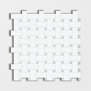 Thassos Polished 12x12 Basket Weave
