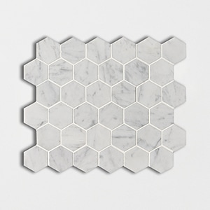 Italian Carrara Polished 10 3/8x12 Hexagon