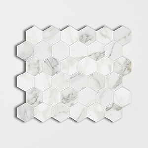 Calacatta Gold Polished 10 3/8x12 Hexagon