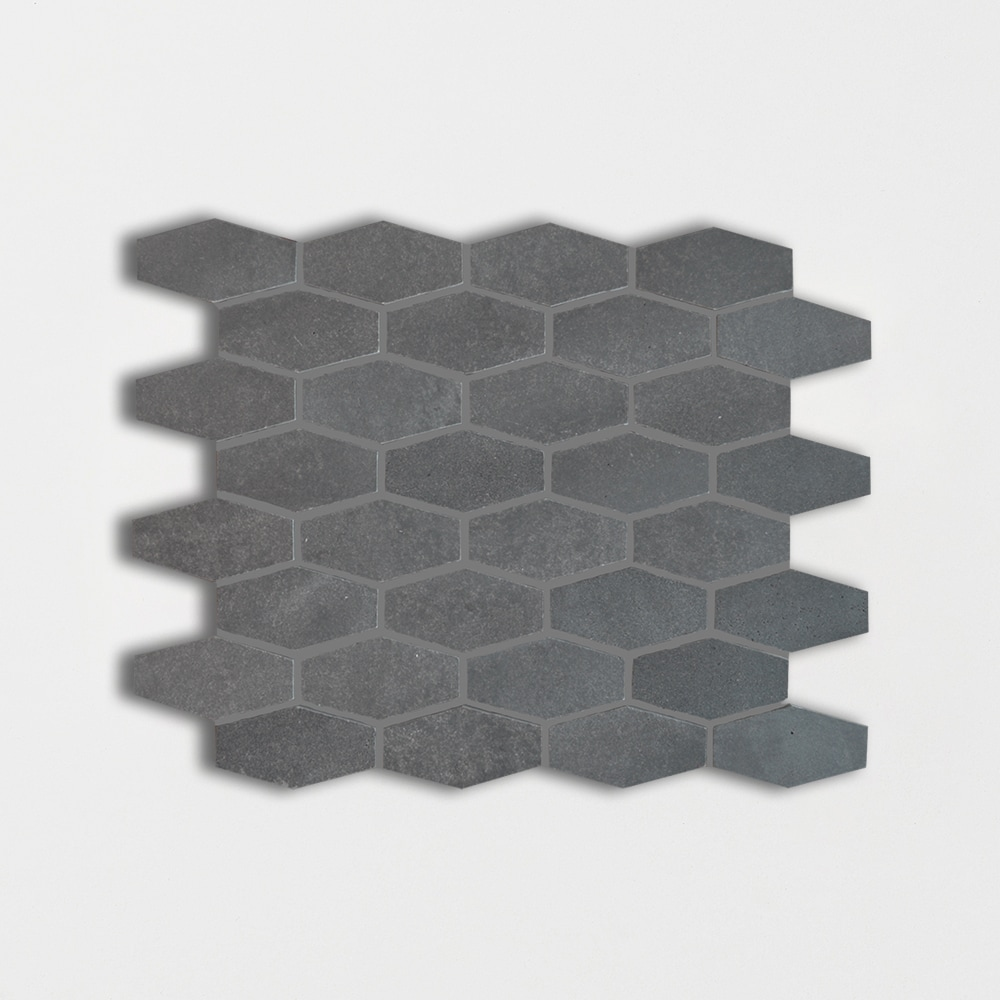 Basaltina Honed 10x12 1/4 Elongated Hexagon