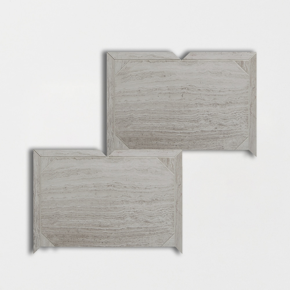 Athens Grey Light Honed 12 1/4x16 3/16 Parquet