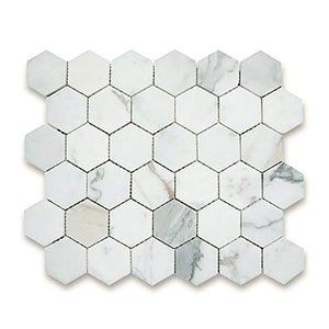 Calacatta Gold Standard Honed 10 3/8x12 Hexagon 2x2