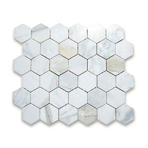Calacatta Gold Standard Polished 10 3/8x12 Hexagon 2x2