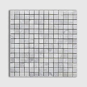 White Carrara Standard Honed 12x12 3/4x3/4