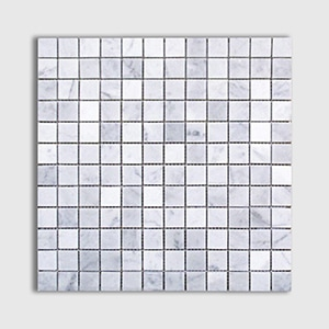 White Carrara Standard Honed 12x12 1x1