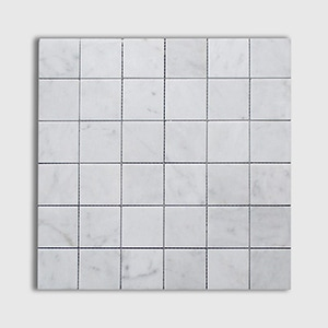 White Carrara Standard Honed 12x12 2x2