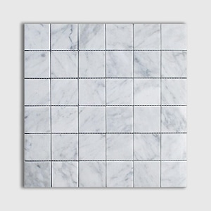 White Carrara Standard Polished 12x12 2x2