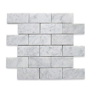White Carrara Standard Honed 12x12 Grand Brick