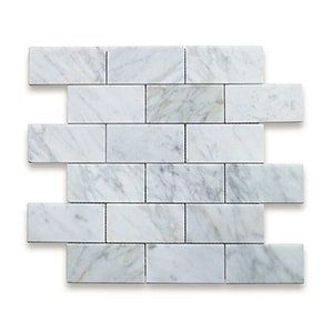 White Carrara Standard Polished 12x12 Grand Brick