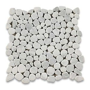 White Carrara Standard Tumbled 12x12 Crazy Mix