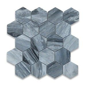 Bardiglio Grey Standard Polished 10 3/8x12 Hexagon 3x3