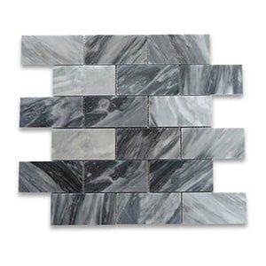 Bardiglio Grey Standard Polished 12x12 Grand Brick