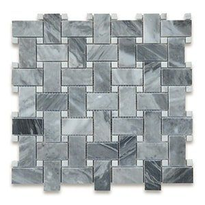 Bardiglio Grey Standard Polished 12x12 Basket Weave