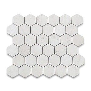 Golden Beach Standard Honed 10 3/8x12 Hexagon 2x2
