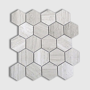 Wood Vein Standard Polished 10 3/8x12 Hexagon 3x3