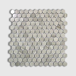 Athens Grey Standard Polished 12x12 Hexagon 1x1