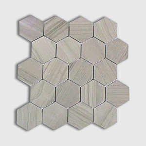 Athens Grey Standard Polished 10 3/8x12 Hexagon 3x3