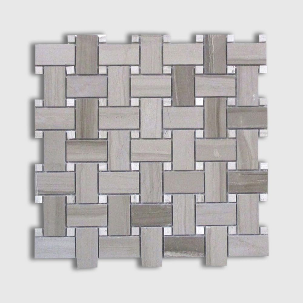 Athens Grey Standard Polished 12x12 Basket Weave