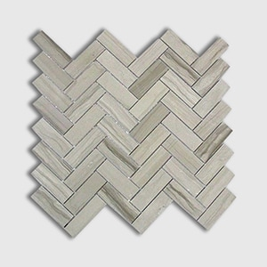 Athens Grey Standard Polished 12x12 Herringbone 1x3