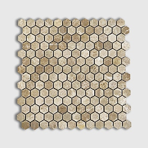 Emperador Light Standard Polished 12x12 Hexagon 1x1