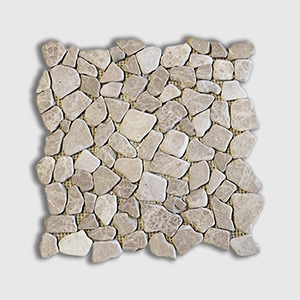 Emperador Light Standard Tumbled 12x12 Crazy Mix