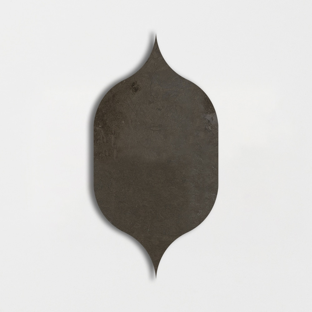 Gray Fousanna Honed 4 7/8x8 13/16 Gothic Arabesque