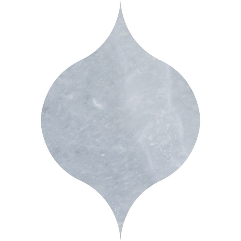 Afyon Grey Light Honed 4 7/8x6 13/16 Winter Leaf