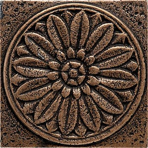 Bronze Brushed 4x4 Rosette