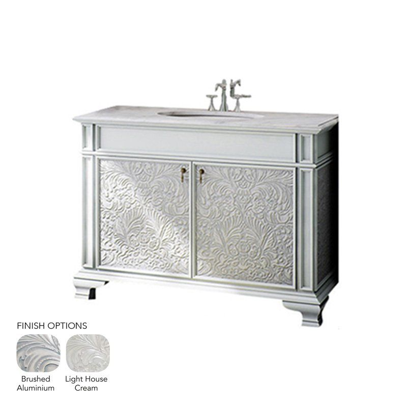 Brushed aluminum 32x21 3 4 baroque cabinet vanity tops for Brushed aluminum kitchen cabinets