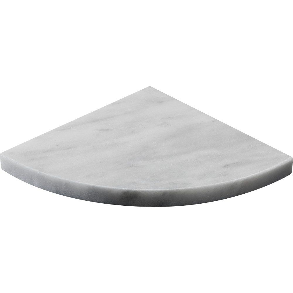 Purchase Marble Corner Shelf Carrara T Honed 8x8 Corner Shelf in Grey
